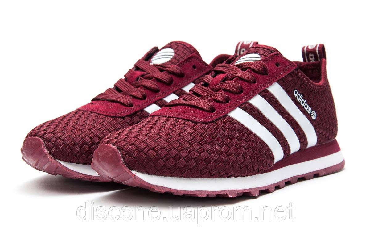 Кроссовки женские 13414 ► Adidas Lite, бордовые ✅SALE! 31% [ 37 ] ► (37-23,1см)