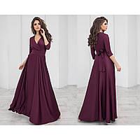 Шикарное длинное платье шелковое 1155