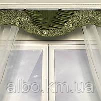 Гардина для кухні спальні кімнати, фіранка в дитячу спальню, гардини з шифону льону, готова фіранка на вікна для спальні кухні, фото 9