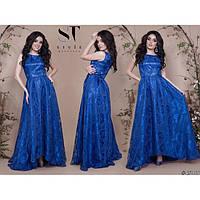 Вечернее платье в пол женское с напылением Марсель 322-5