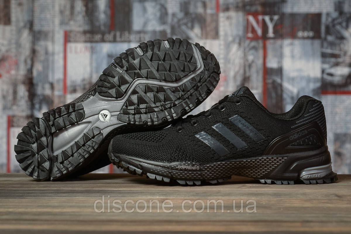 Кроссовки женские 16911 ► Adidas Marathon Tn, черные ✅Скидка 30% [ 38 ] ► (38-24,3см)