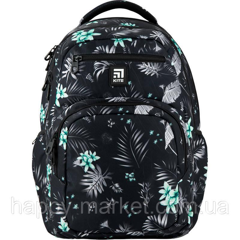 Рюкзак для девочки подростка ортопедический Kite Education цветы K20-903L-3
