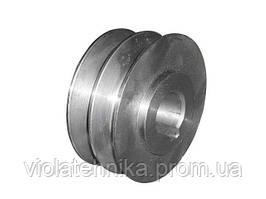 Шкив двухручьевой (наружный диаметр 76 мм, внутренний 20 мм, профиль В)
