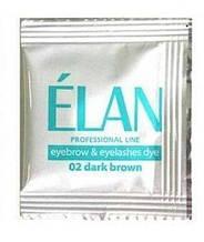 Elan гель краска для бровей + окислитель, темно -  коричневая.