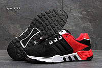 Мужские демисезонные кроссовки Equipment черные с красным 3583