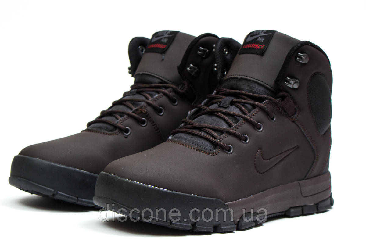 Зимние мужские ботинки 30522 ► Nike LunRidge, коричневые ✅SALE! 46% [ 42 ] ► (42-27,5см)