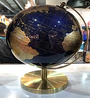Глобус 25 см Темно синий - золотой