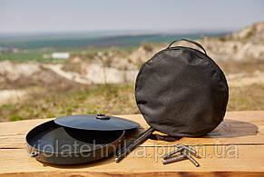 Сковородка 30 см с крышкой и чехлом Буковинка
