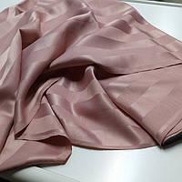 Ткань шторная цвета пыльной розы в полоску