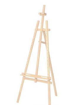 Мольберт стаціонарний Rosa Studio сосна, 57x60х120см, висота 87см №GPT50045717