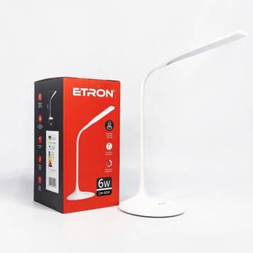 Лампа наст. світлодіодна ETRON Desk Lamp delta 6W 4200K White №1-EDL-405