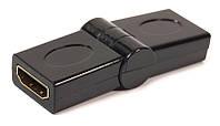 Переходник PowerPlant HDMI AF - AF, 360 градусов