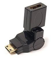Переходник PowerPlant HDMI AF - mini HDMI AM, 360 градусов