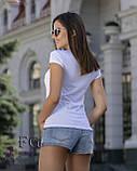 """Женская футболка с принтом """"Burger"""", фото 2"""
