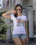 """Женская футболка с принтом """"Burger"""", фото 3"""