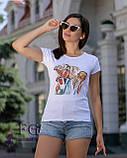 """Женская футболка с принтом """"Burger"""", фото 4"""