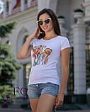 """Женская футболка с принтом """"Burger"""", фото 5"""
