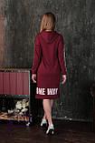 """Спортивное женское платье с капюшоном """"One Way"""", фото 5"""