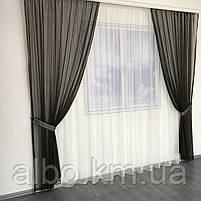Штори і тюль в дитячу кімнату спальню, штори з сітки на кухню, штори для залу кімнати кабінету 200x270 cm (2 шт) і тюль 400x270 cm, фото 6