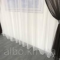 Штори і тюль в дитячу кімнату спальню, штори з сітки на кухню, штори для залу кімнати кабінету 200x270 cm (2 шт) і тюль 400x270 cm, фото 8