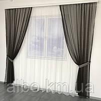 Штори і тюль в дитячу кімнату спальню, штори з сітки на кухню, штори для залу кімнати кабінету 200x270 cm (2 шт) і тюль 400x270 cm, фото 7