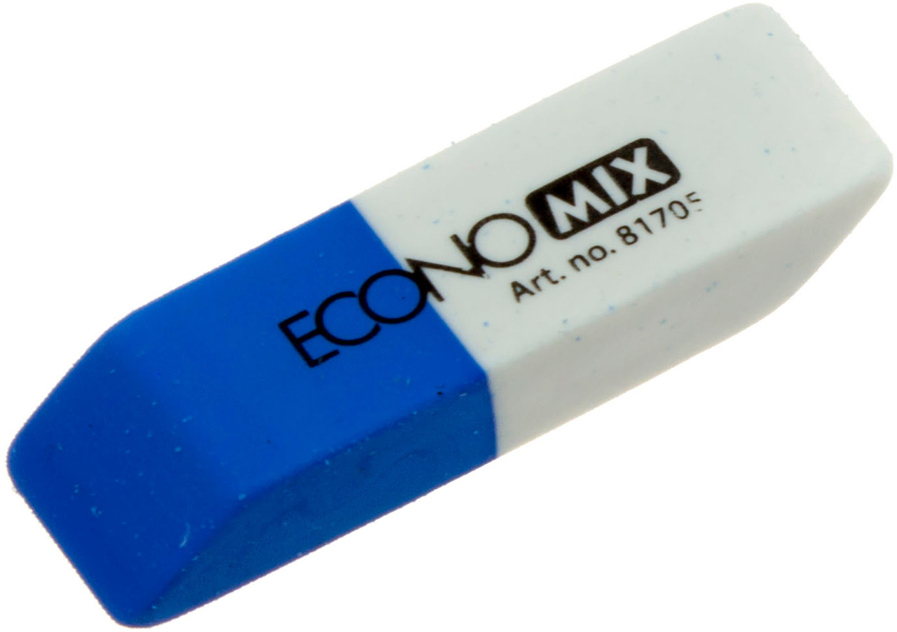 """Гумка для олівця та чорнил """"Economix"""" біло-синя №O81705(42)"""