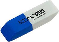 """Гумка для олівця та чорнил """"Economix"""" біло-синя №O81705(42), фото 1"""