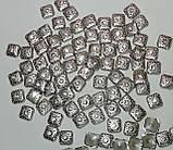 Термо стрази фігурні Premium Квадрат Crystal Срібло 9мм Hot Fix 10шт, фото 2