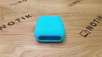 Силиконовый чехол для беспроводных наушников Apple Airpods PodPocket flex Blue