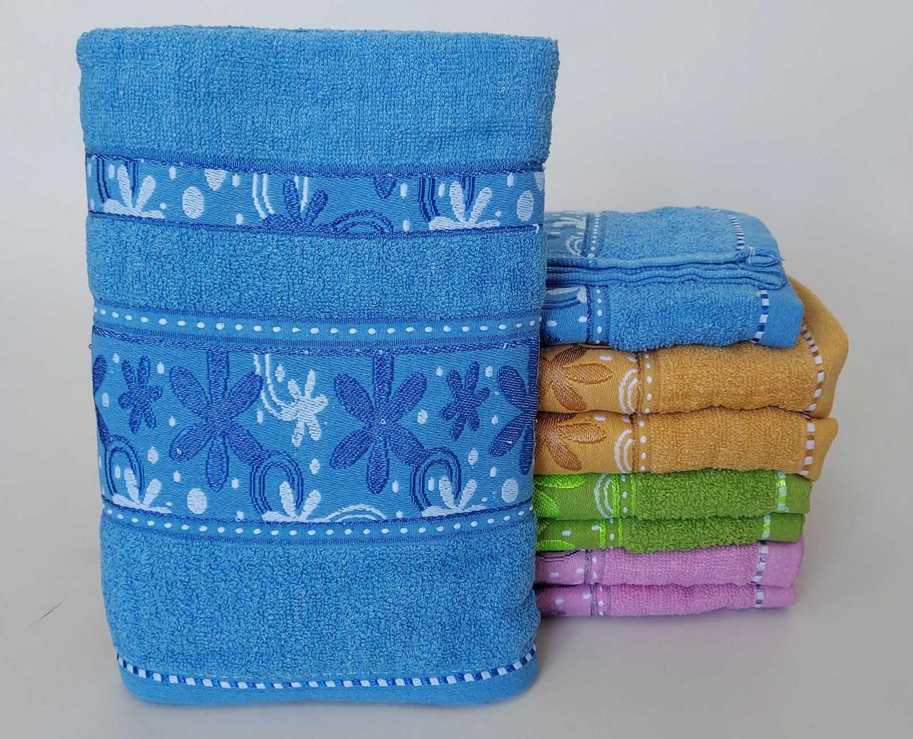 Банные махровые полотенца «Снежинка»  (8 шт)