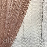 Шторы из сетки 200x270 cm (2 шт) и тюль 400x270 cm ALBO Пудровые (SHT-S515-3008), фото 7