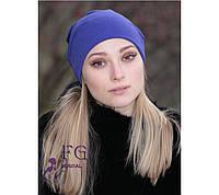 Трикотажные шапки женские (набор из 3 штук)