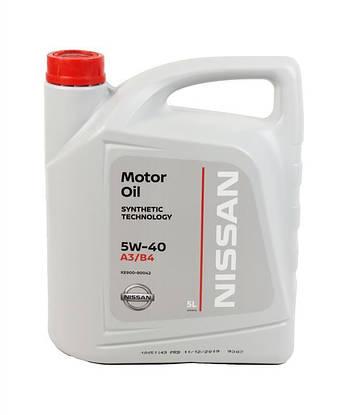 Моторное масло NISSAN 5W40 A3/B4 5л KE900-90042