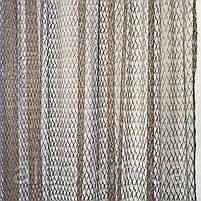 Шторы из сетки 200x270 cm (2 шт) и тюль 400x270 cm ALBO Кофейные (SHT-S515-8026), фото 4