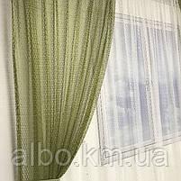 Кухонні штори з сітки, комплект штор з тюлем для залу спальні кімнати, штори з сітки в кухню хол зал кабінет 200x270 cm (2 шт) і, фото 10
