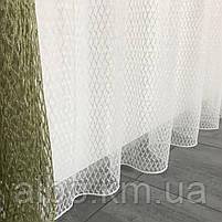 Кухонні штори з сітки, комплект штор з тюлем для залу спальні кімнати, штори з сітки в кухню хол зал кабінет 200x270 cm (2 шт) і, фото 7
