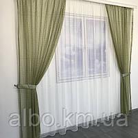 Кухонні штори з сітки, комплект штор з тюлем для залу спальні кімнати, штори з сітки в кухню хол зал кабінет 200x270 cm (2 шт) і, фото 2