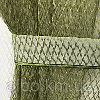 Кухонні штори з сітки, комплект штор з тюлем для залу спальні кімнати, штори з сітки в кухню хол зал кабінет 200x270 cm (2 шт) і, фото 8