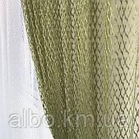 Кухонні штори з сітки, комплект штор з тюлем для залу спальні кімнати, штори з сітки в кухню хол зал кабінет 200x270 cm (2 шт) і, фото 4