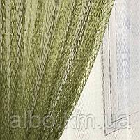 Кухонні штори з сітки, комплект штор з тюлем для залу спальні кімнати, штори з сітки в кухню хол зал кабінет 200x270 cm (2 шт) і, фото 9