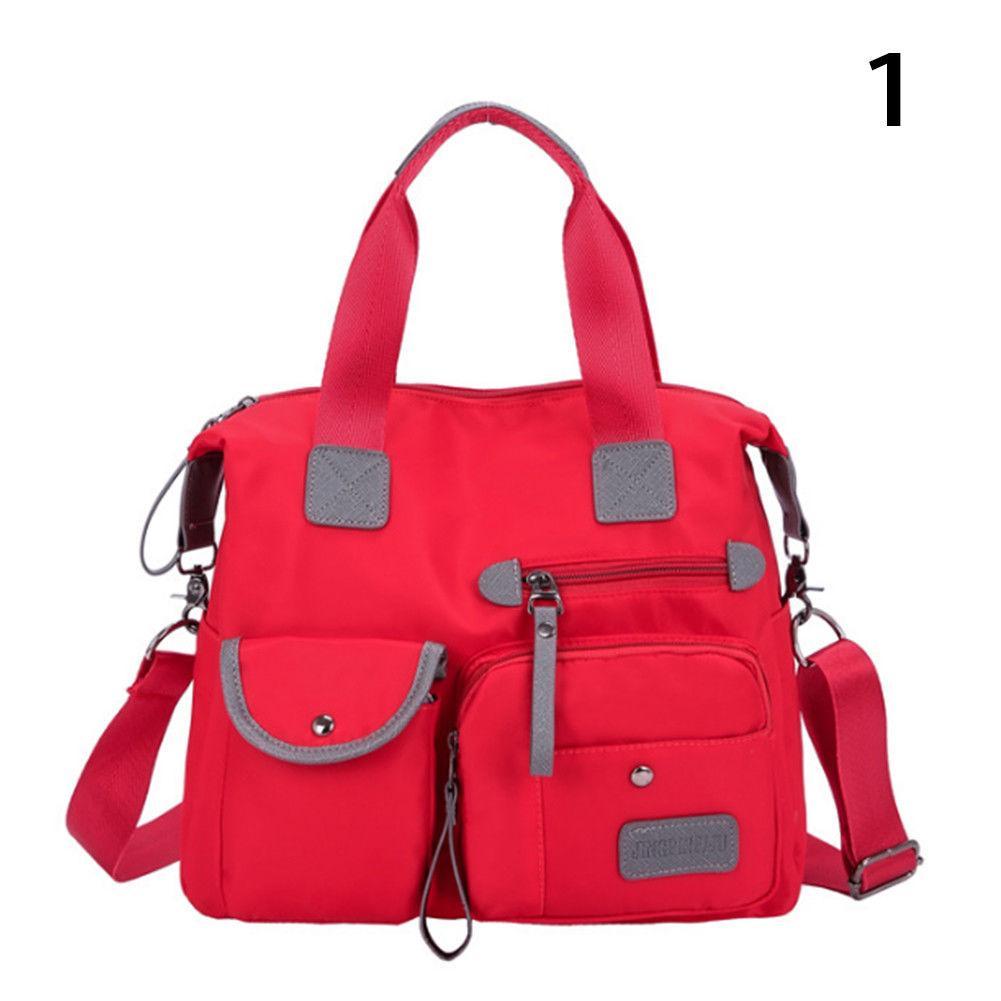 Тканинна модна жіноча сумка з кишенями ZA-2