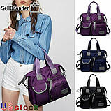 Тканинна модна жіноча сумка з кишенями ZA-2, фото 7