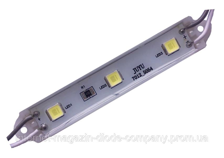 Світлодіодний модуль SMD 5054/3 IP65 12V, Холодний Білий