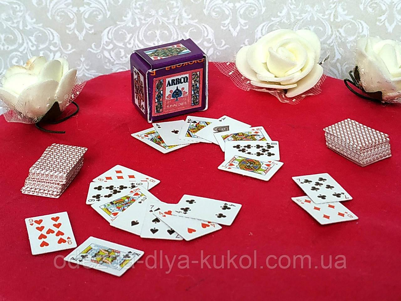 Мини игральные карты (аксессуары для кукол)