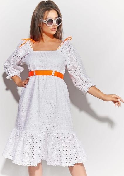 Жіноча біле плаття з прошвы розмір 50 52 54