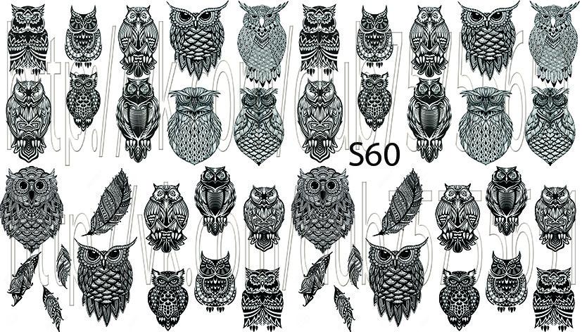 Слайдер дизайн для нігтів сови
