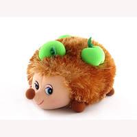 Мягкая игрушка со звуком Ежик с яблоками 17 см