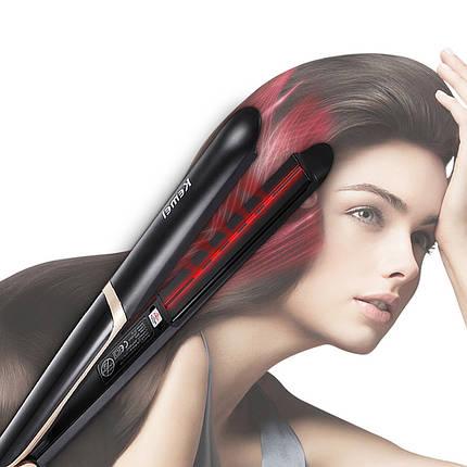 Утюжок выпрямитель для волос Kemei KM-2219 профессиональный технология ionic быстрый нагрев, фото 2