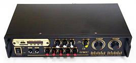 Підсилювач звуку UKC AV-106BT Bluetooth | Караоке на 2 мікрофона