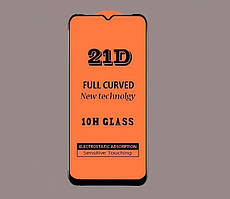 Защитное стекло 21D Full Glue для Motorola Moto G8 Play черное 0,3 мм в упаковке